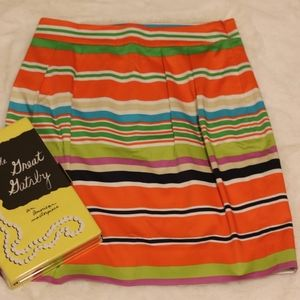 kate spade Skirts - Kate Spade   NEW colorful stripe A-line mini skirt